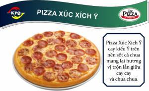 F&B Online - Pizza Xúc Xích Ý - Đế đặc biệt viền siêu phô mai Nổ - Size Lớn