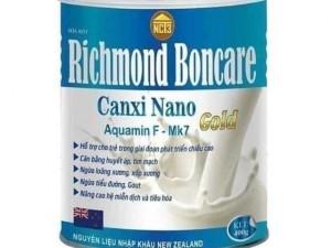SỮA RICHMOND BỔ SUNG CANXI NANO, MK7