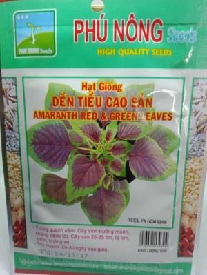 Hạt giống rau dền tía Phú Nông