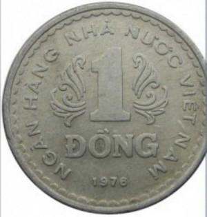 xu 1 đồng năm 1976 mới 100%