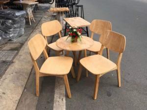 Bàn ghế gỗ mẫu mã mới, phong cách đẹp, thích hợp