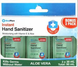 Gel rửa tay khô Instant Hand Sanitizer Medipure - Aloe vera -SH62