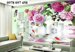 Gạch tranh vườn hoa