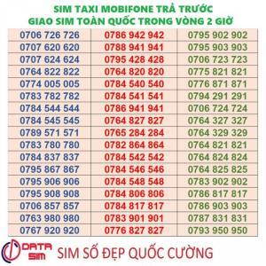 Sim taxi trả trước mobifone đồng giá 4 triệu 1 sim