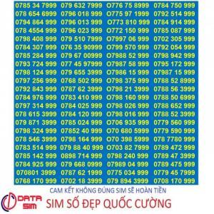 Sim tam hoa 999 trả trước mobifone đồng giá 5 triệu 1 sim