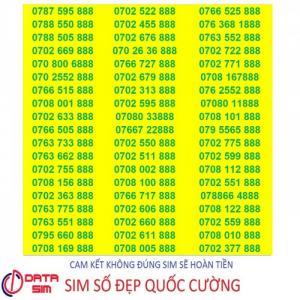 Sim tam hoa 888 trả trước mobifone đồng giá 7 triệu 1 sim