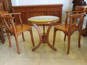 Bộ bàn uống trà 3 món gỗ tốt giá hấp dẫn