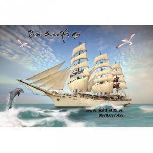 Tranh phong thủy tốt - Tranh thuyền buồm xuôi gió