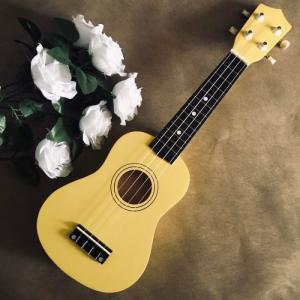Đàn Ukulele gỗ màu vàng | Size soprano 21' chính hãng.