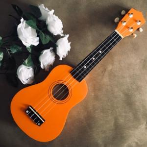 Đàn Ukulele gỗ màu cam | Size soprano 21' chính hãng.