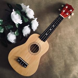 Đàn Ukulele gỗ nâu | Size soprano 21' chính hãng.