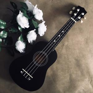 Đàn Ukulele gỗ màu đen | Size soprano 21' chính hãng.