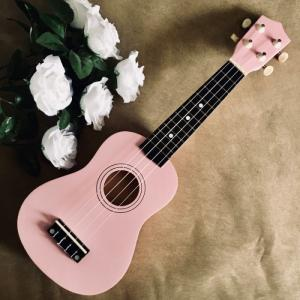Đàn Ukulele gỗ màu hồng | Size soprano 21' chính hãng.