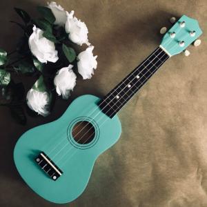 Đàn Ukulele gỗ xanh dương | Size soprano 21' chính hãng.