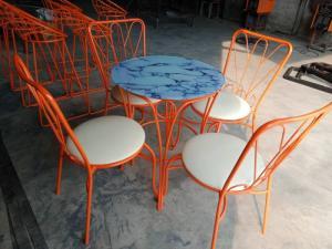 bàn ghế cafe xích đu giá theo hình