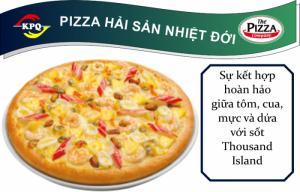F&B Online - Pizza Hải Sản Nhiệt Đới - Đế đặc biệt viền phô mai xúc xích - Size Lớn
