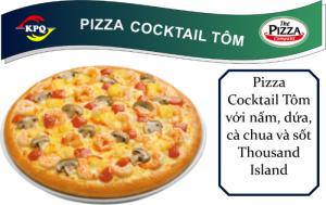 F&B Online - Pizza Cocktail Tôm - Đế dày - Size Nhỏ