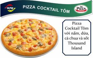 F&B Online - Pizza Cocktail Tôm - Đế đặc biệt viền phô mai xúc xích - Size Lớn