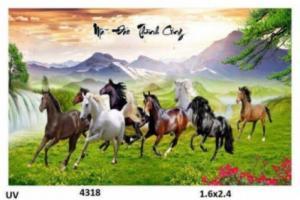 gạch 3d tranh ngựa