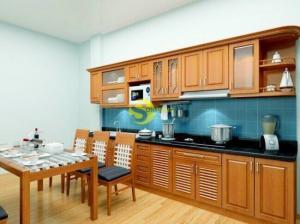 Mẫu tủ bếp đơn giản độc đáo