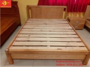 Giường gỗ sồi 1,6m giá rẻ