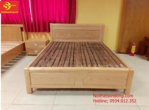 Những mẫu giường giá rẻ gỗ sồi nhập khẩu