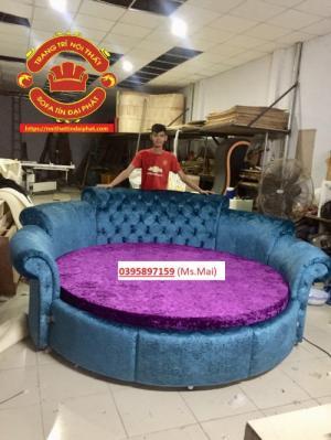 Giường tròn giá rẻ, giường ngủ phong cách Luxury