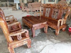 Bộ bàn ghế gỗ hương vân loang tay 12 hàng tuyển chọn giá siêu HOT