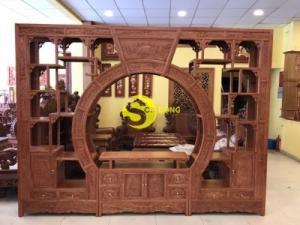 Kệ trưng bày vách ngăn phòng mẫu đẹp gỗ tốt giá rẻ