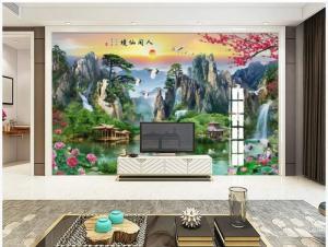 Tranh phong cảnh - tranh gạch phòng khách