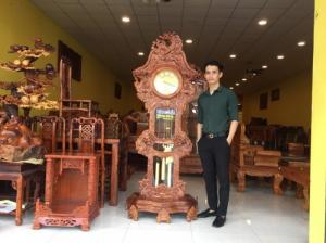 Đồng hồ chạm cửu long đẹp gỗ tự nhiên giá rẻ