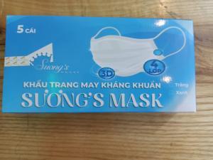 Khẩu trang Suong Mask kháng khuẩn 5 cái tái sử dụng 3 lần -SH66