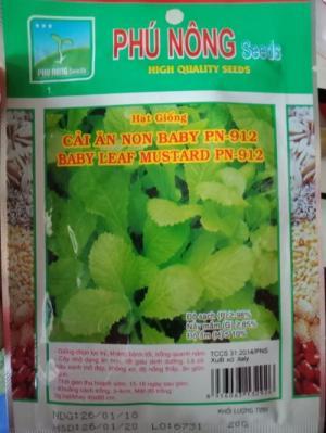 Hạt giống cải xanh ăn non Phú Nông