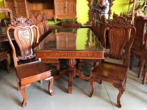 Bộ bàn ăn 8 ghế gỗ tự nhiên giá siêu rẻ
