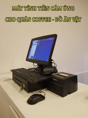 Máy tính tiền cảm ứng cho Quán coffee - Đồ ăn vặt Tại Cần Thơ