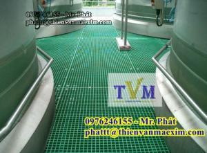 Bán tấm sàn lót công nghiệp frp grating kháng hóa chất, không rỉ sét