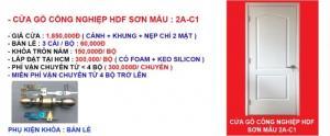 Báo giá cửa gỗ công nghiệp hdf mẫu 2A-C1