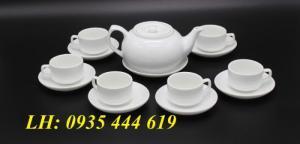 Ấm trà in logo theo yêu cầu tặng quà khách hàng tại Huế