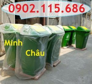 Thùng rác nhựa 60l, thùng rác nhựa 60 lít, thùng rác 60l nắp đạp chân, thùng rác 60l nắp bập bênh, thùng rác 60l có bánh xe,