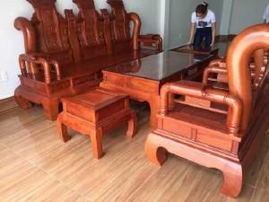 Bộ bàn ghế tần thủy hoàng cột 14 Vip