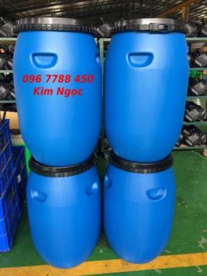 Thùng phuy nhựa 120 lít chứa nước sinh hoạt