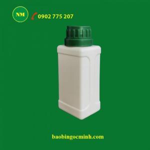 Chai nhựa vuông 100ml - chai nhựa 250ml đựng thuốc trừ sâu