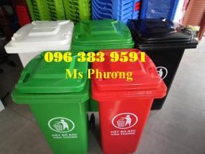 Thùng rác công nghiệp-thùng rác 120L-240L giá rẻ