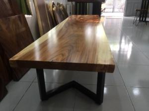 Mặt bàn gỗ me tây nguyên tấm dài 2m