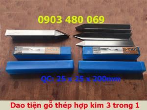 Dao tiện gỗ thép hợp kim 3 trong 1 Fuwangtools