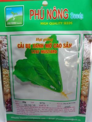 Hạt giống cải bẹ xanh mỡ Phú Nông