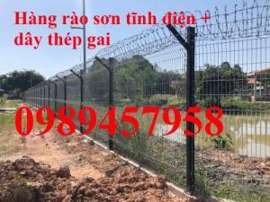 Gia công Hàng rào sơn tĩnh điện phi 5 ô 50x200 và 50x150 mới 100%