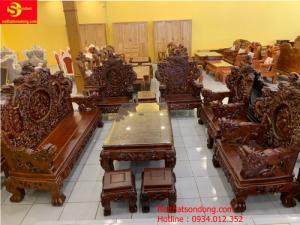 Bộ bàn ghế Rồng Đỉnh gỗ hương việt nam