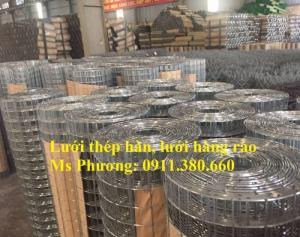 Lưới thép hàn D2 ô50x50 mạ kẽm, dạng cuộn có sẵn, giá tốt