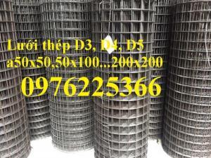 Lưới thép hàn dây D3a50x50, D3a100x100, D4a50x50, 100x100...200x200